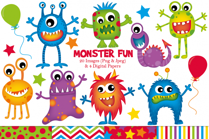 Monster clipart, Monster graphics & illustrations