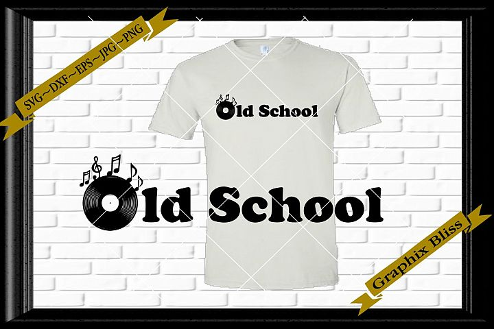 Ols School Vinyl Record Music Lovers svg