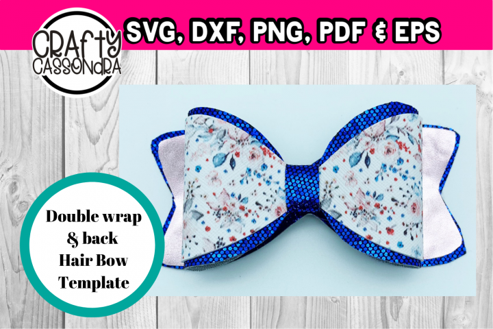 Double back and wrap hair bow svg file