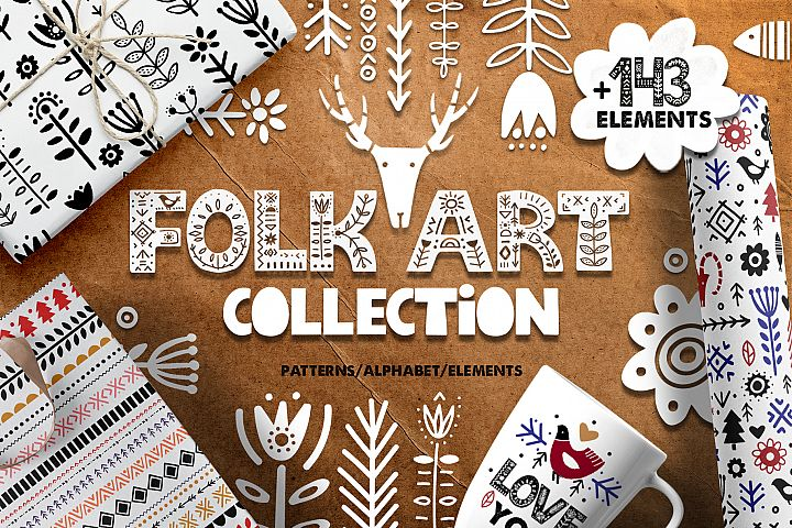 Folk Art Graphic Collection