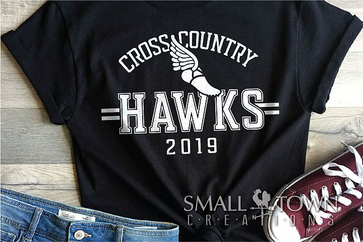 Hawks Cross Country Team, Hawk Mascot, PRINT, CUT & DESIGN