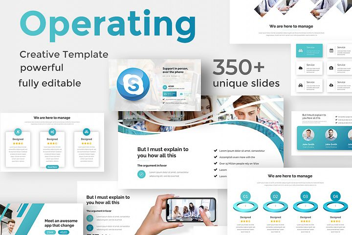 Operating Model Pitch Deck Keynote Template