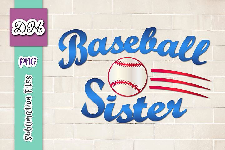 Baseball Sister Player family Sign Sublimation Print File PN