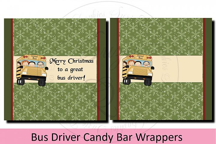 School Bus Driver Candy Bar Wrapper