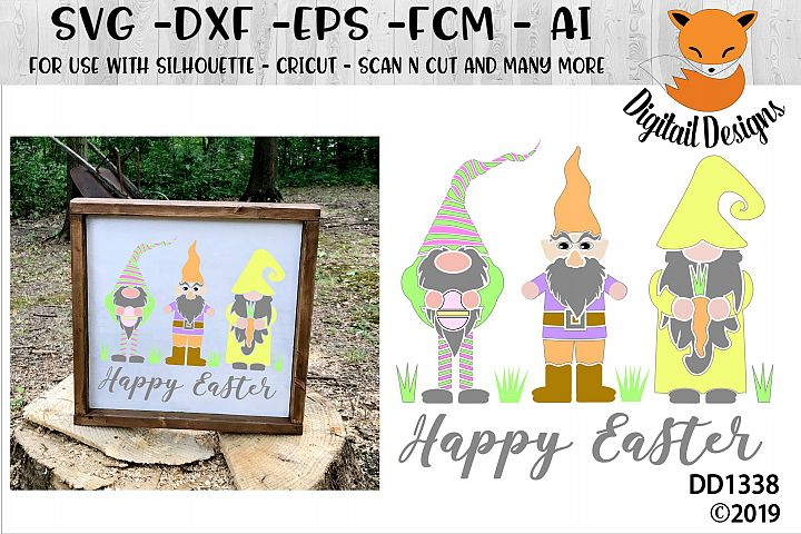 Easter Gnomes Happy Easter SVG