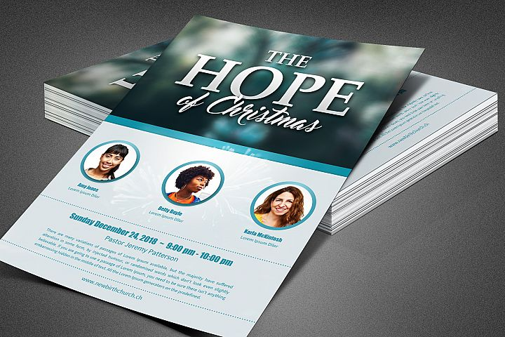 The Hope of Christmas Church Flyer