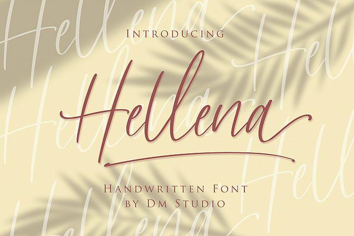 Hellena - Handwritten Script Font