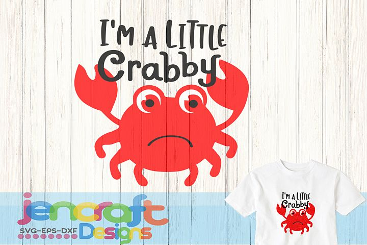 A little Crabby SVG, Toddler Kids svg