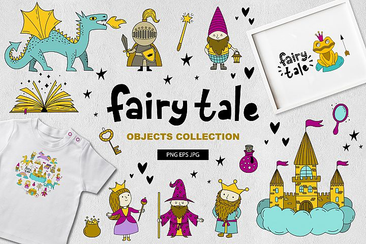 Fairy tale objects collection