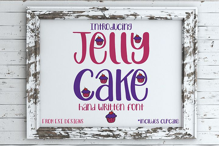 Jelly Cake - A Fun Modern Hand Drawn Font