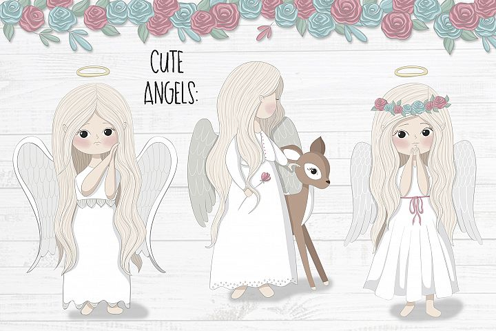 Little angels clipart - Free Design of The Week Design 3