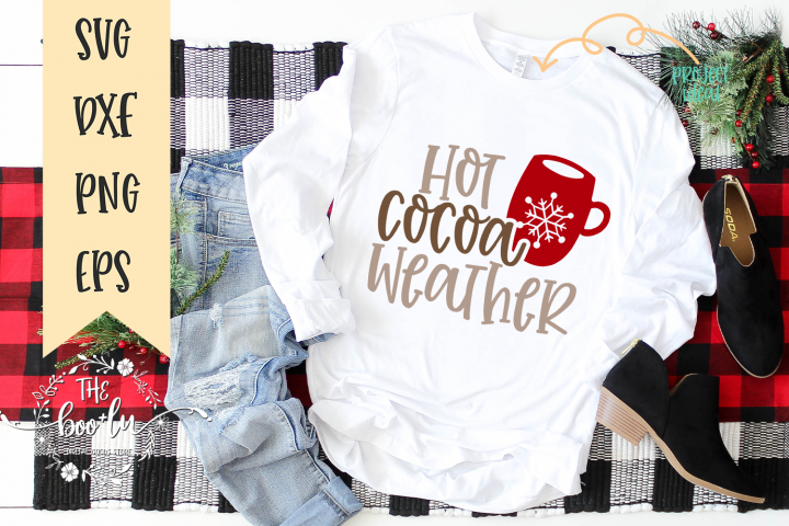 Hot Cocoa Weather Christmas Winter SVG EPS DXF PNG