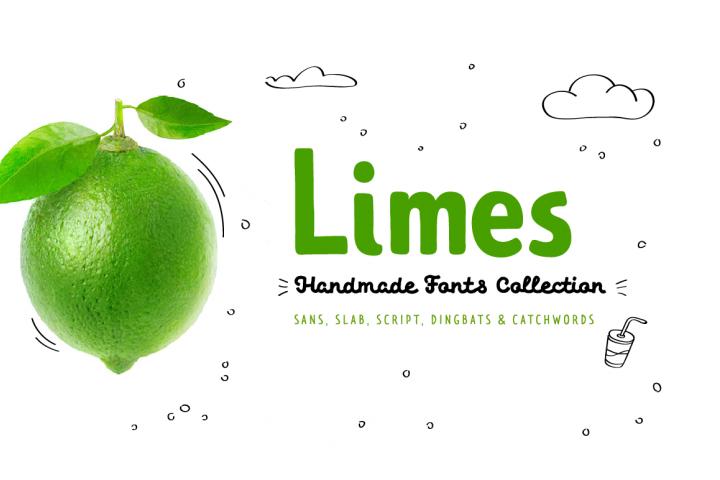 Limes—handmade fontfamily