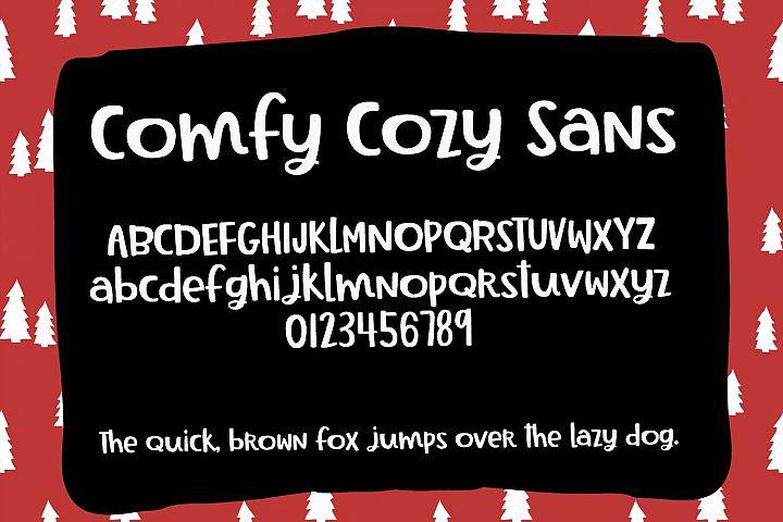 Comfy Cozy Font Trio- Sans, Serif & Doodle Font Bundle example image 4