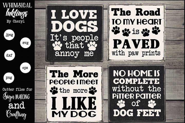 Dog Lover Magnet-Sign SVG set