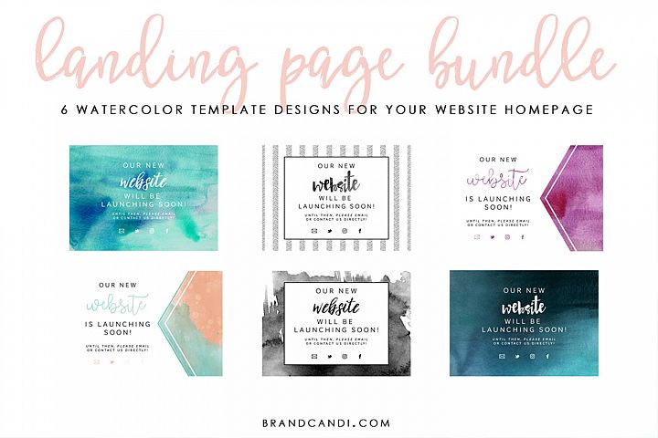Website Landing Page Bundle