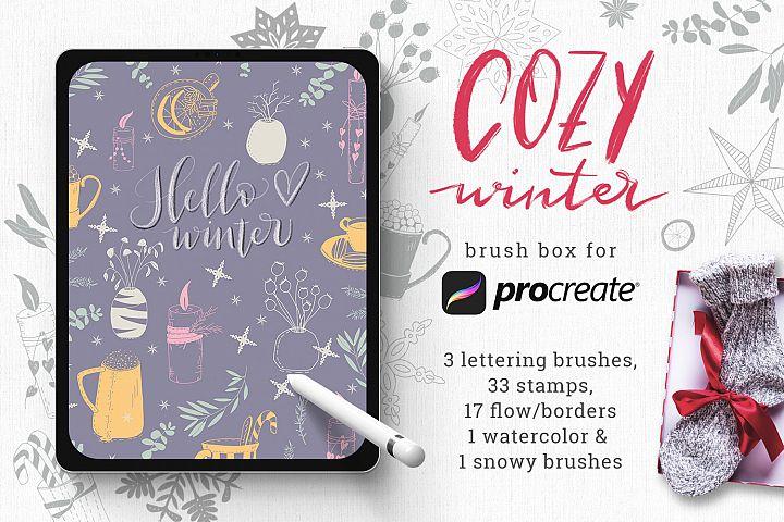 Winter Brush Box for Procreate