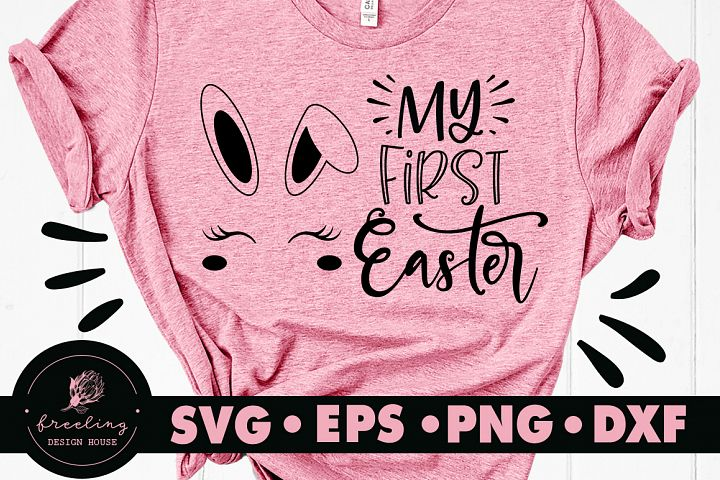 My First Easter Bunny Face SVG DXF EPS PNG