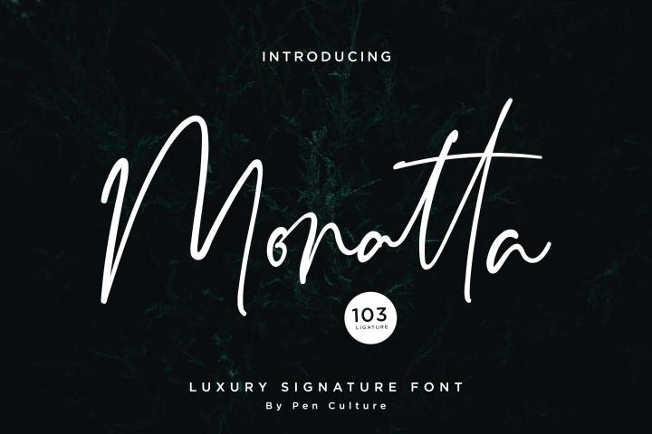Monatta - Luxury Signature Font