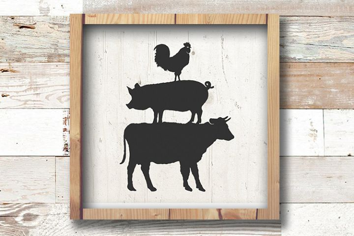 Farm Animal SVG - Farm SVG - Farm Animals Svg - Farmhouse