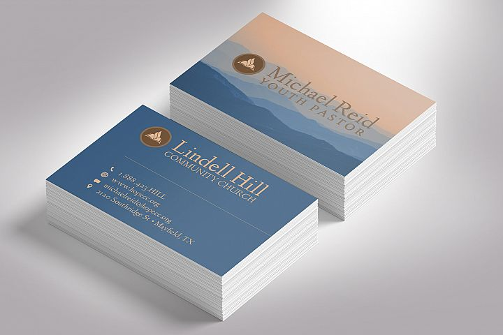 Church Business Card Photoshop Template
