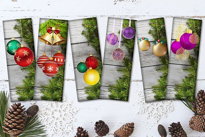 Christmas Balls - Digital Bookmark, BLACK FRIDAY 50OFF