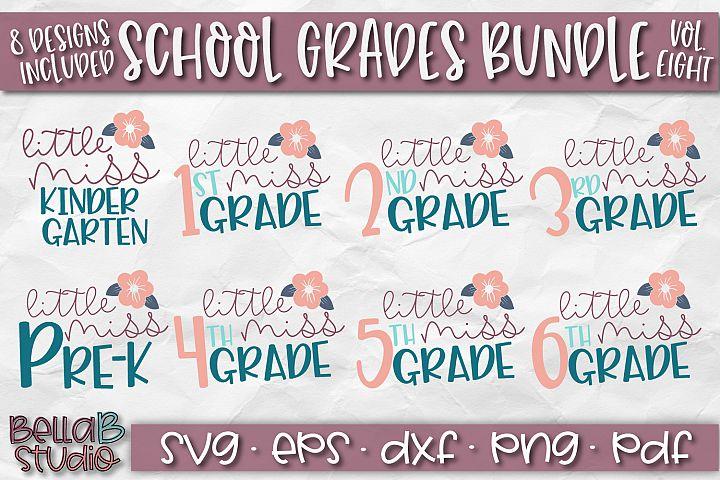 School Grades SVG Bundle, Back To School Bundle, Little Miss
