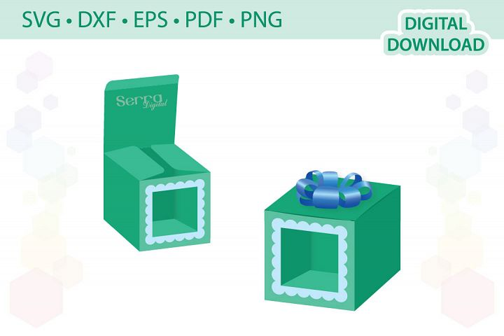 Square box with window cut file
