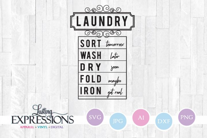 Laundry Room Wash Dry Fold // SVG Quote Design