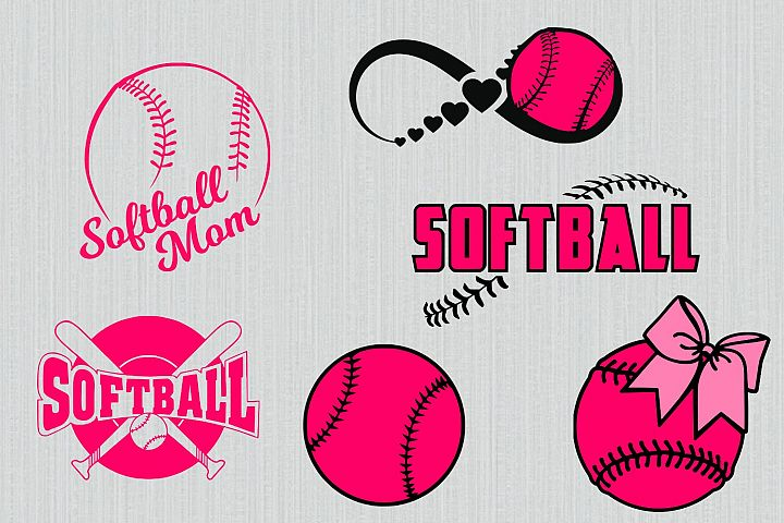 Softball svg bundle, softball clipart, softball cut files for cricut and silhouette, printable, png, dxf