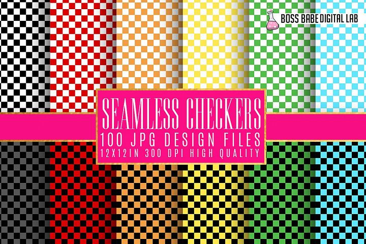 Checkered Digital Papers