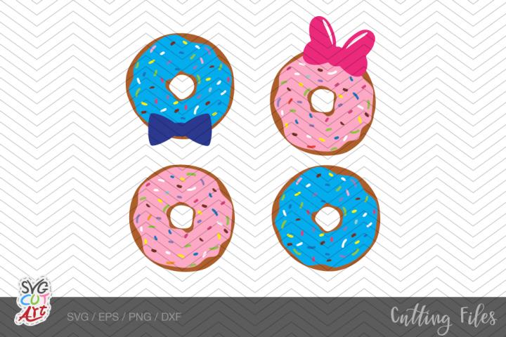Donut SVG, sprinkles, donut clipart, donut bow, Vector cut
