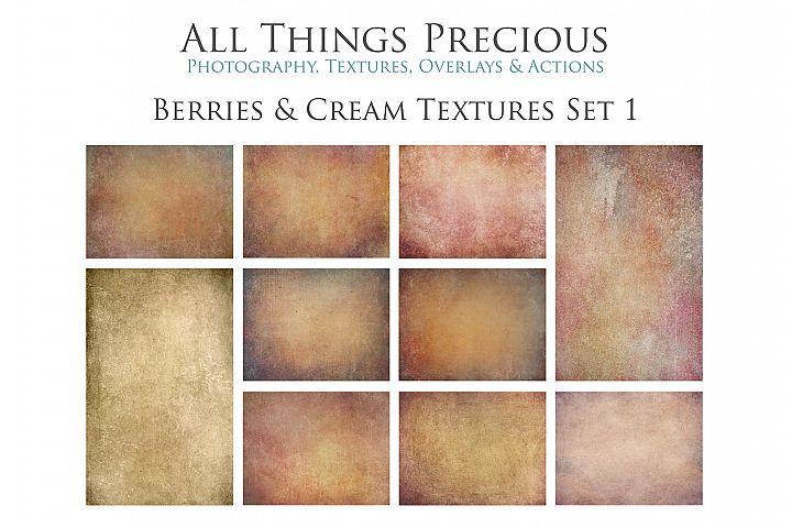 10 Fine Art BERRIES & CREAM Textures SET 1