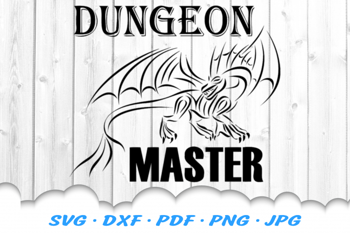 Dungeon Master Dragon SVG DXF Cut Files