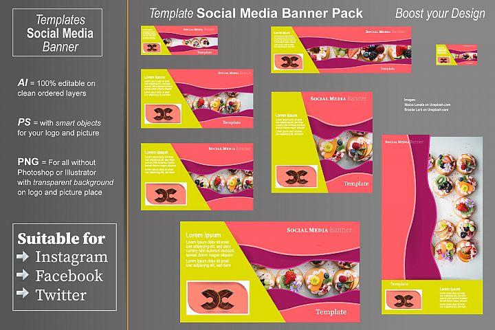 Template - Social Media Banner- Color Waves