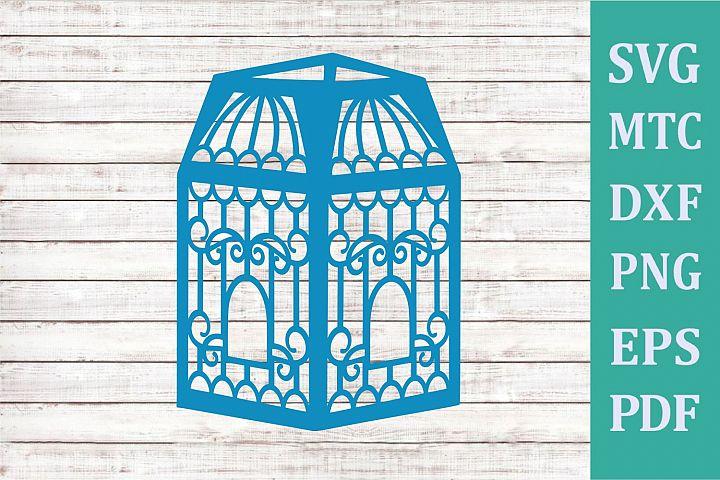 3D Paper Lantern Style #09 Bird Cage Design #09 Party Decor