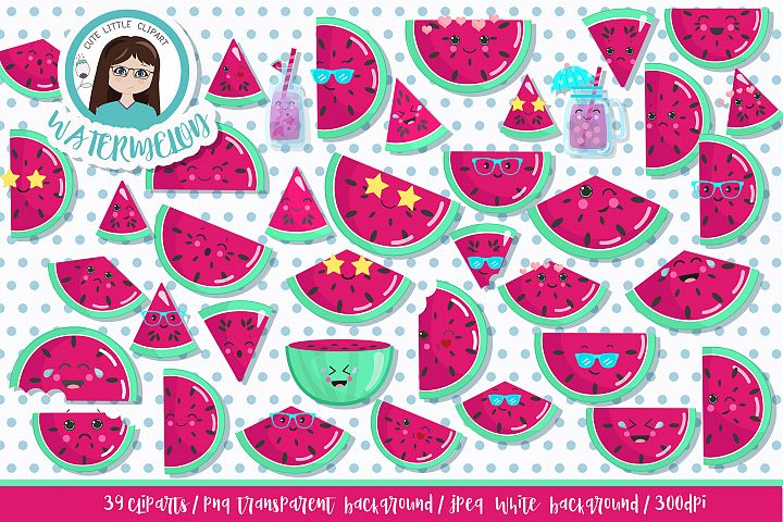 Watermelon vector cliparts