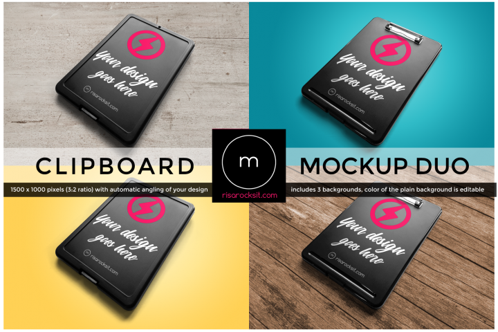 Storage Clipboard Angled Product Mock Up