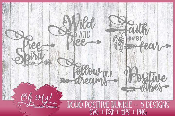 Boho Bundle - 5 Designs SVG EPS DXF PNG