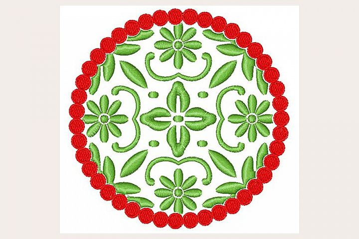 Floral Circle - Machine Embroidery Design