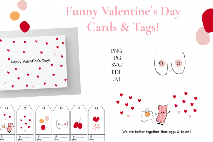 Valentines day Cards Tags