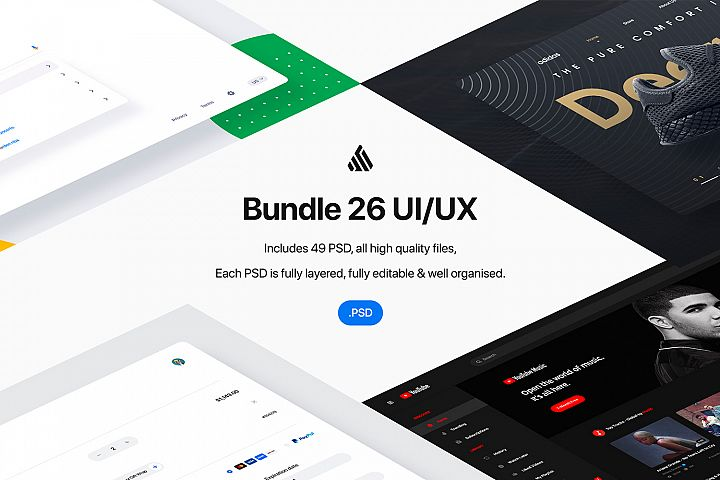 Bundle 26 User Interfaces - PSD