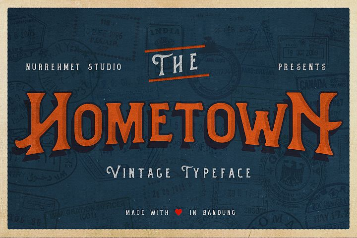 Hometown Vintage Typeface - Free Font of The Week Font