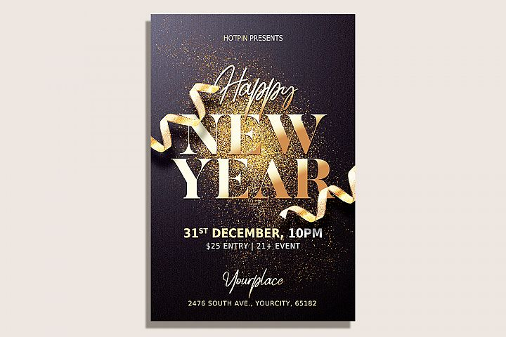 New Year Flyer Template