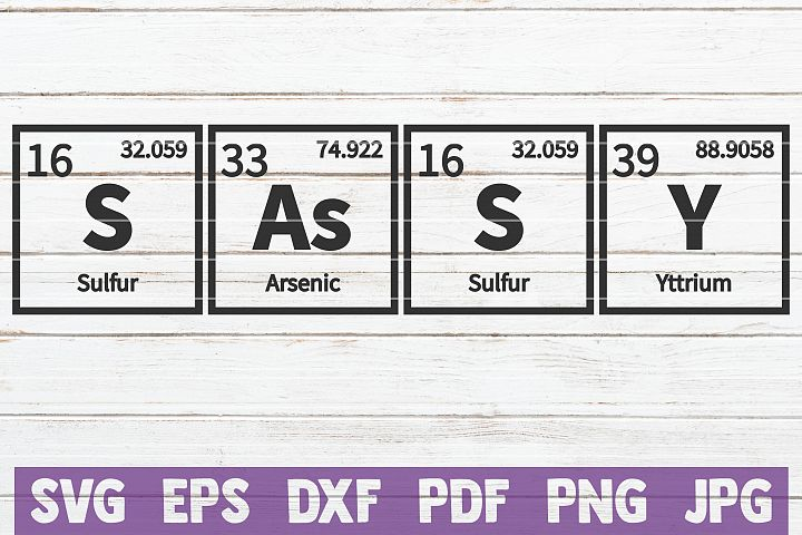 Sassy Periodic Table SVG Cut File | commercial use