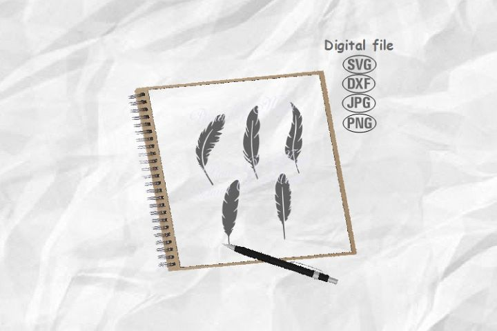 Feathers Svg, Feather Bundle Svg, Feather Png