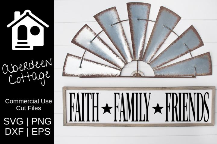 Faith Family Friends SVG Design