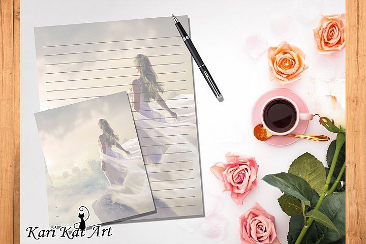 Pack of eight printable journal page Sky Free