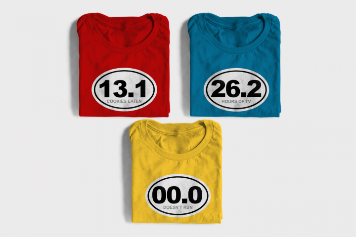 Funny Marathon Numbers SVG File Cutting Template