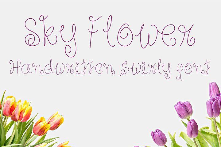 Sky Flower - Handwritten Font